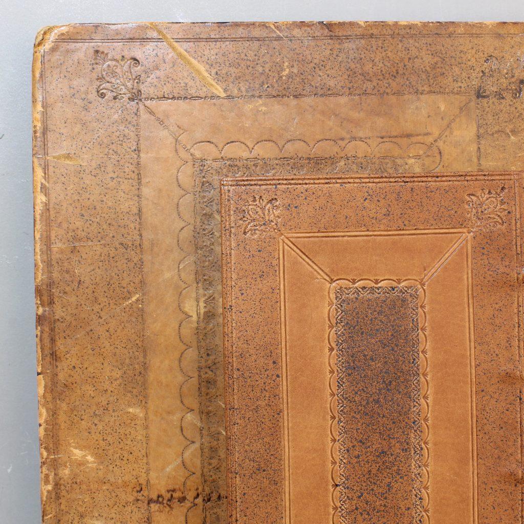 Cambridge panel leather binding